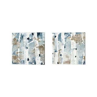 Lanie Loreth 'Blue Upon the Hill Square' Canvas Art (Set of 2)