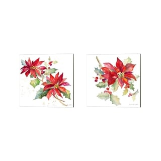 Lanie Loreth 'Poinsettias' Canvas Art (Set of 2)