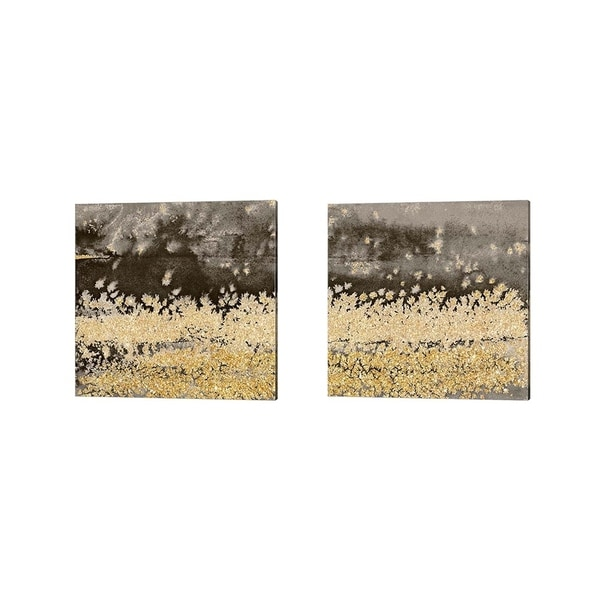 Lanie Loreth 'Gold Winds Square' Canvas Art (Set of 2)