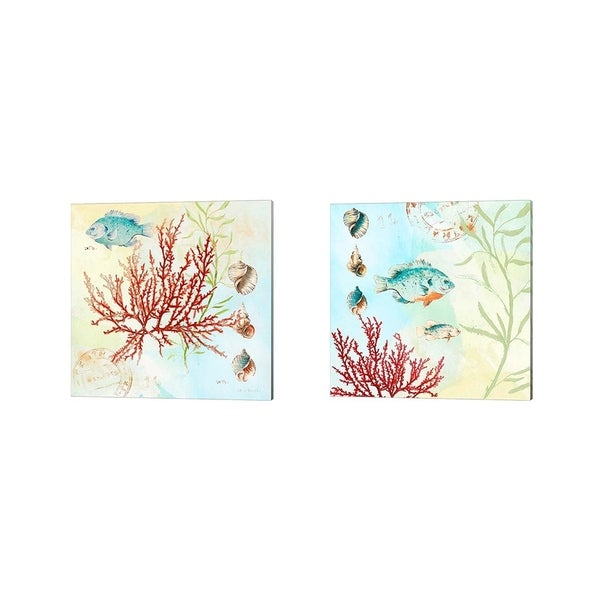 Lanie Loreth 'Deep Sea Coral' Canvas Art (Set of 2)