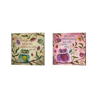 Elizabeth Medley 'I Owl You' Canvas Art (Set of 2)