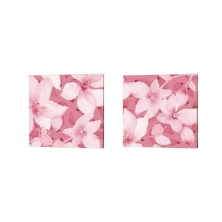 Lanie Loreth 'Blooming Pink Whispers' Canvas Art (Set of 2)