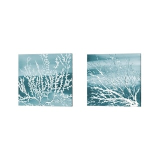 Lanie Loreth 'Deep Coral Square' Canvas Art (Set of 2)