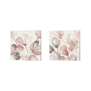 Lanie Loreth 'Neutral Pink Floral' Canvas Art (Set of 2)