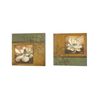 Patricia Pinto 'White Nature' Canvas Art (Set of 2)