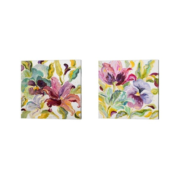 Lanie Loreth 'Lyrical Garden' Canvas Art (Set of 2)