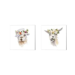 Lanie Loreth 'Floral Llama' Canvas Art (Set of 2)