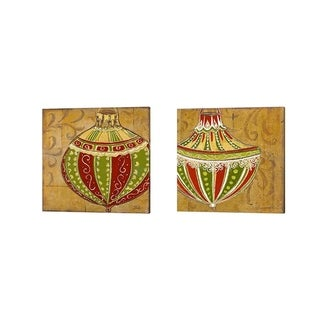 Patricia Pinto 'Ornament' Canvas Art (Set of 2)