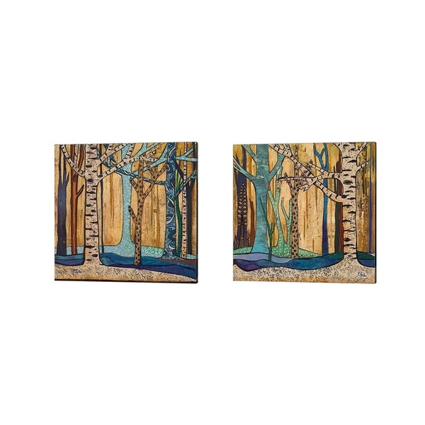 Patricia Pinto 'Mother Nature' Canvas Art (Set of 2)