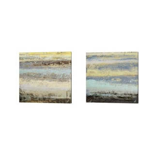 Michael Marcon 'Origins Blue' Canvas Art (Set of 2)