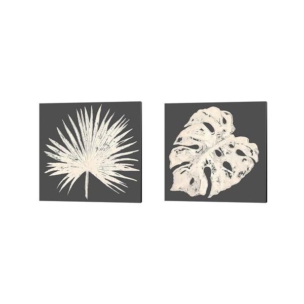 Porch & Den Patricia Pinto 'Sophisticated Palm Leaf' Canvas Art (Set of 2)