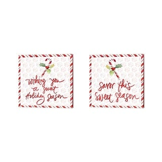 Lanie Loreth 'Peppermint Wishes' Canvas Art (Set of 2)