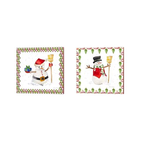Lanie Loreth 'Christmas Snowman' Canvas Art (Set of 2)