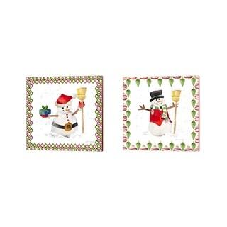 Lanie Loreth 'Christmas Snowman' Canvas Art (Set of 2)