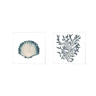 Elizabeth Medley 'Coastal Icon (blue) B' Canvas Art (Set of 2)