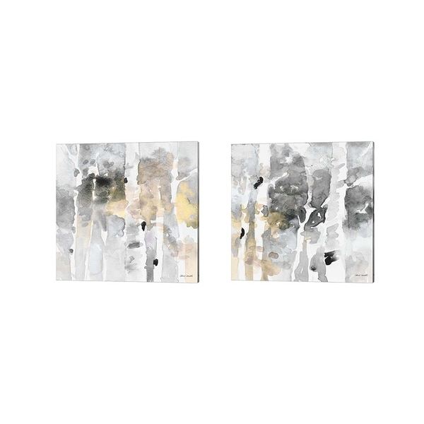 Lanie Loreth 'Up to the Northern Skies Grey' Canvas Art (Set of 2)