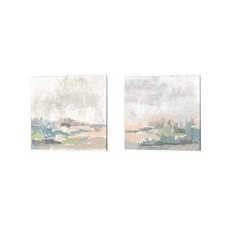 Jennifer Goldberger 'Sweet Lagoon' Canvas Art (Set of 2)