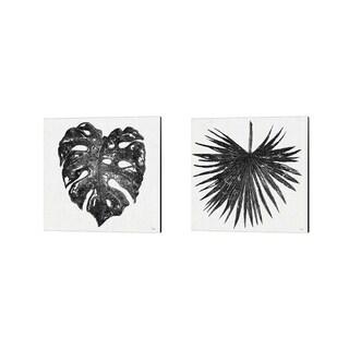 Porch & Den Patricia Pinto 'Dark Leaf Palm' Canvas Art (Set of 2)