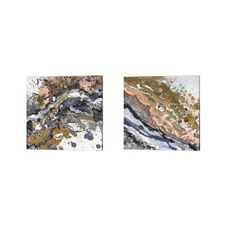 Patricia Pinto 'Turbulence Square' Canvas Art (Set of 2)