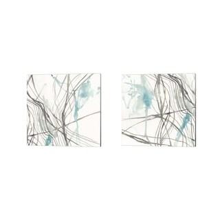 Jennifer Goldberger 'Tendrils' Canvas Art (Set of 2)