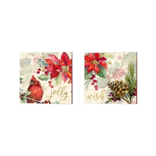 Lanie Loreth 'Holiday Wishes' Canvas Art (Set of 2)