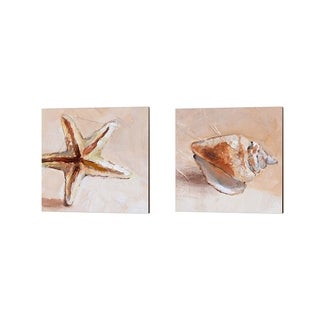 Lanie Loreth 'Copper Starfish & Sea Shell' Canvas Art (Set of 2)
