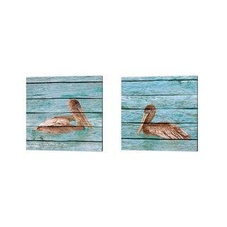 Kathy Mansfield 'Wood Pelican' Canvas Art (Set of 2)