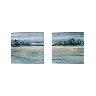 Patricia Pinto 'The Blue Forest Square' Canvas Art (Set of 2)
