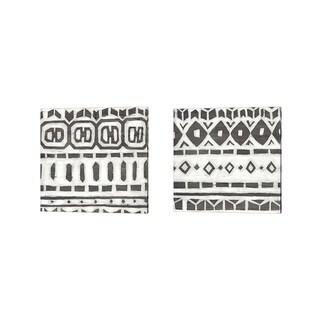 June Erica Vess 'Tribal Textile' Canvas Art (Set of 2)