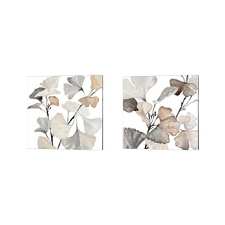 Porch & Den Lanie Loreth 'Neutral Ginko Stems' Canvas Art (Set of 2)