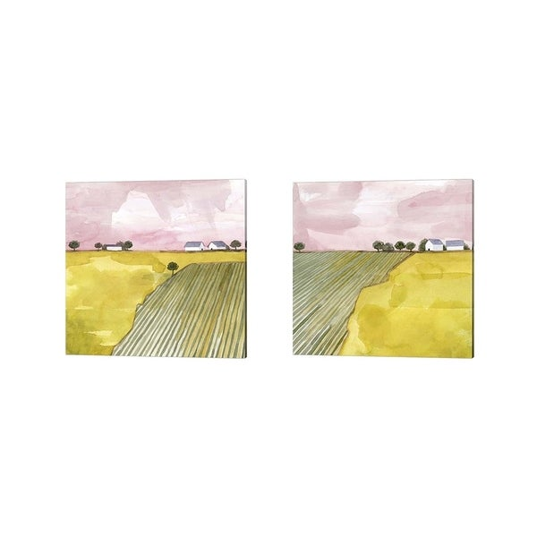 Grace Popp 'Blush Hour' Canvas Art (Set of 2)