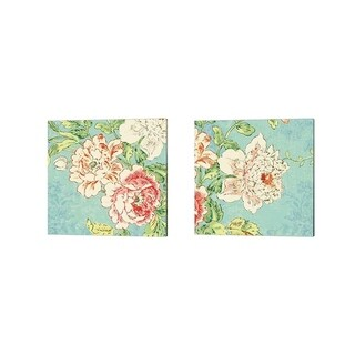 Sue Schlabach 'Cottage Roses Bright' Canvas Art (Set of 2)