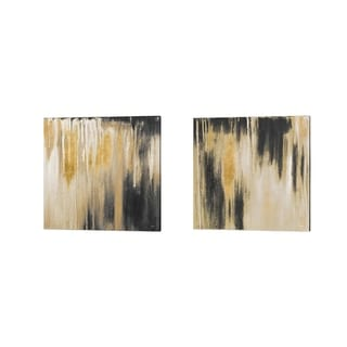 Patricia Pinto 'Gold Paysage' Canvas Art (Set of 2)