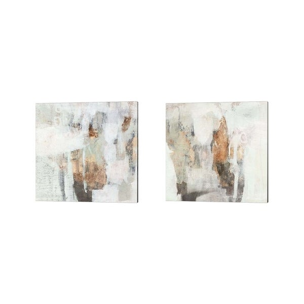 Victoria Borges 'Burnished Mint' Canvas Art (Set of 2)