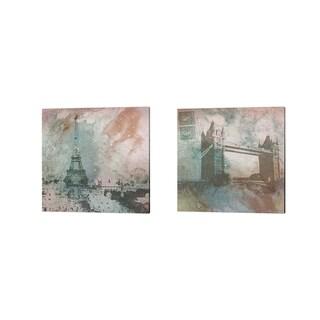 Dan Meneely 'Vintage Europe' Canvas Art (Set of 2)