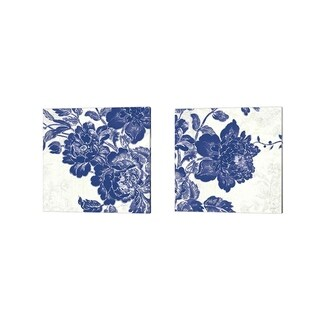 Sue Schlabach 'Toile Roses' Canvas Art (Set of 2)