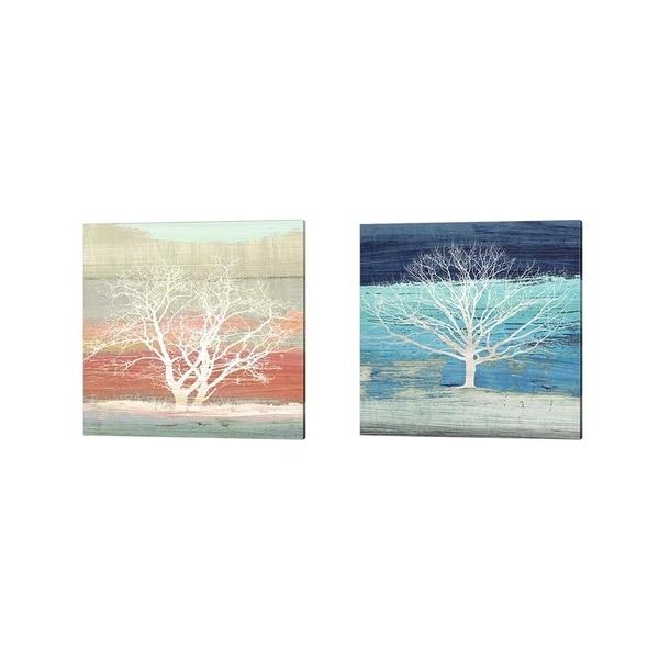 Alessio Aprile 'Treescape (detail)' Canvas Art (Set of 2)