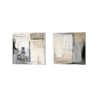 Patricia Pinto 'Winter Dusk' Canvas Art (Set of 2)