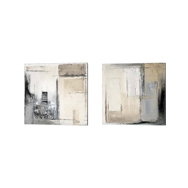 Patricia Pinto 'Winter Dusk' Canvas Art (Set of 2)