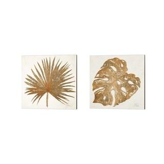 Porch & Den Patricia Pinto 'Golden Leaf Palm' Canvas Art (Set of 2)