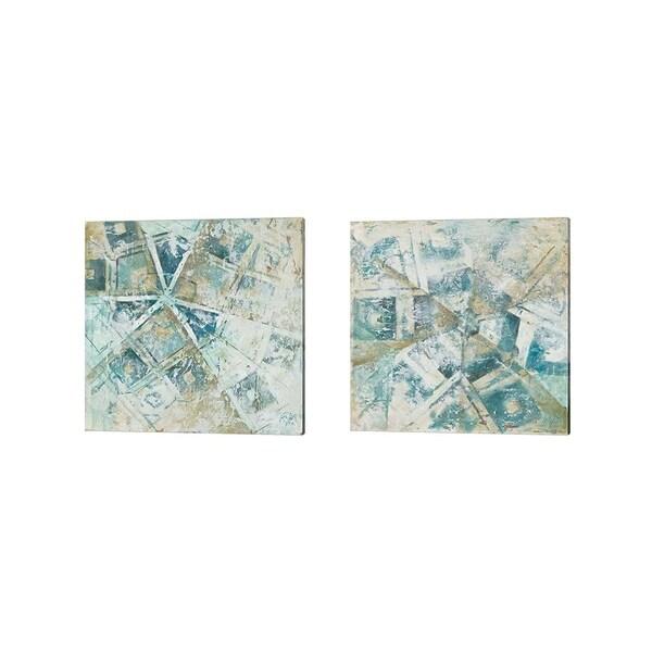 Patricia Pinto 'Beach Umbrella Abstract' Canvas Art (Set of 2)
