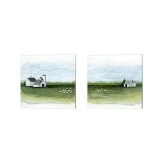 Grace Popp 'Delilah's Farm' Canvas Art (Set of 2)