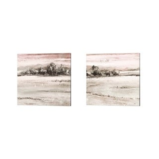 Patricia Pinto 'Muted Forest Square' Canvas Art (Set of 2)