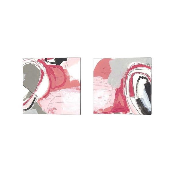 June Erica Vess 'Totality of Pink' Canvas Art (Set of 2)