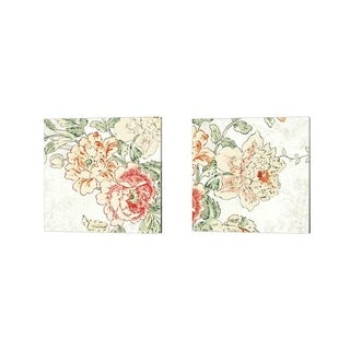 Sue Schlabach 'Cottage Roses' Canvas Art (Set of 2)