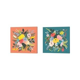 Laura Marshall 'Wild Garden' Canvas Art (Set of 2)