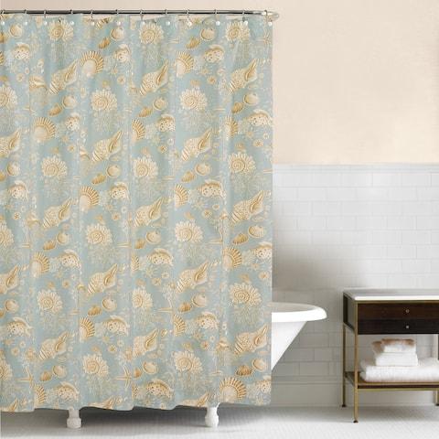Natural Shells 72x72 Cotton Shower Curtain