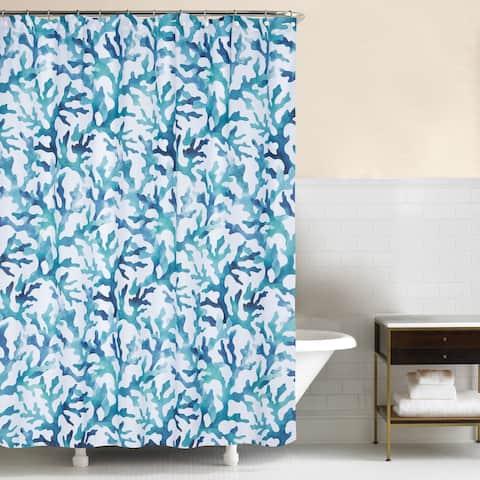 Aqua Reef 72x72 Cotton Shower Curtain