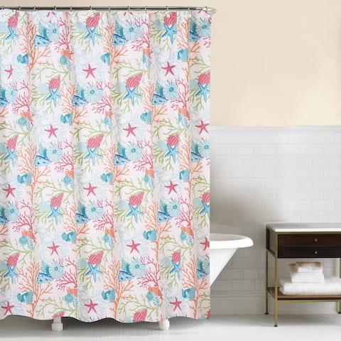 Caribbean Splash 72x72 Cotton Shower Curtain