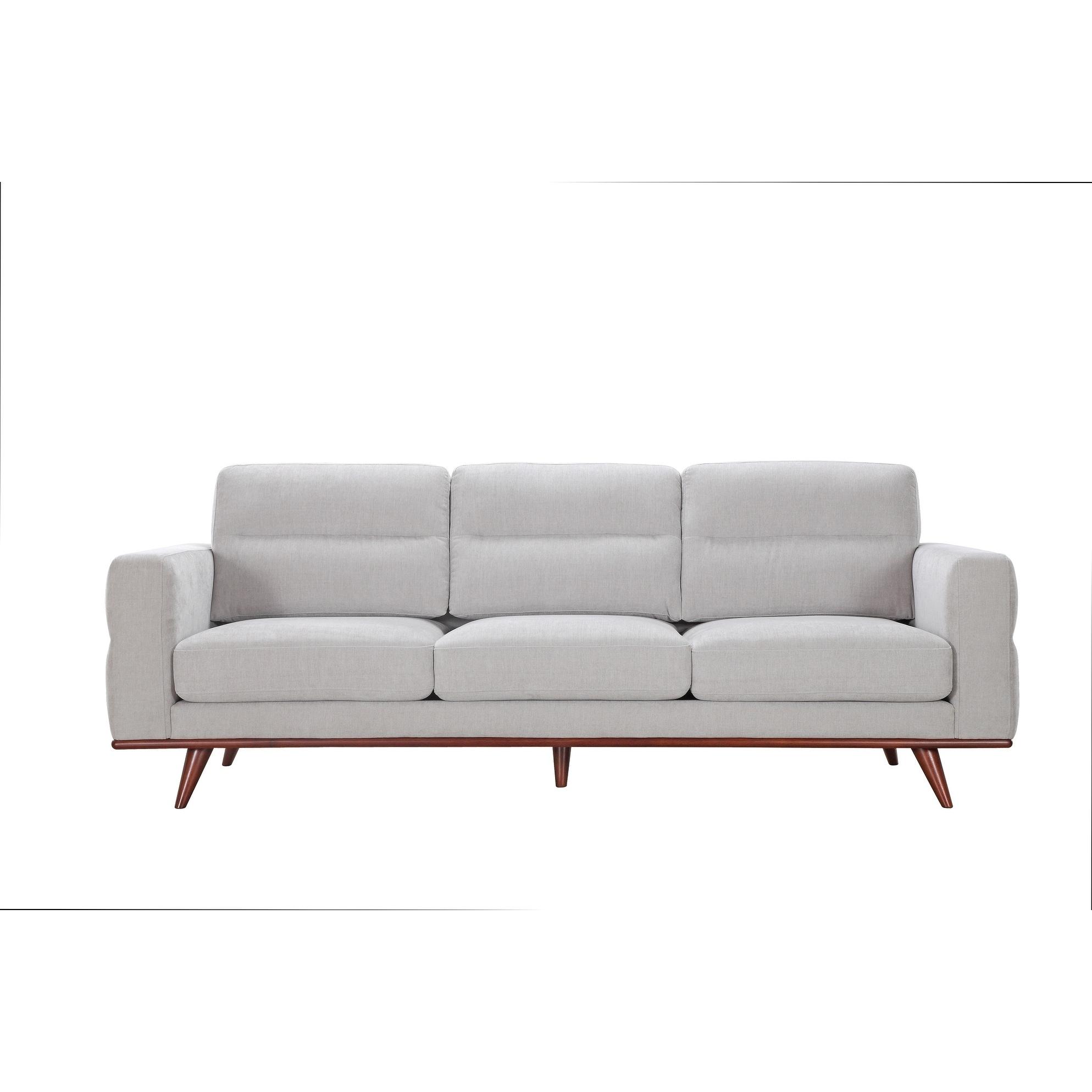 Light Taupe Mid Century Modern Sofa